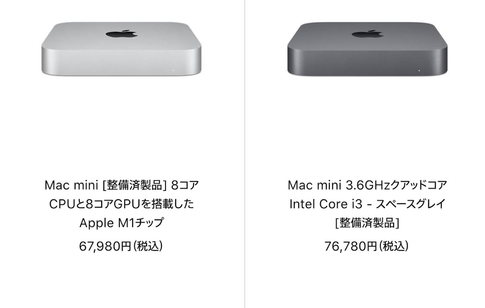 Mac Refurbished model 2021 07 12