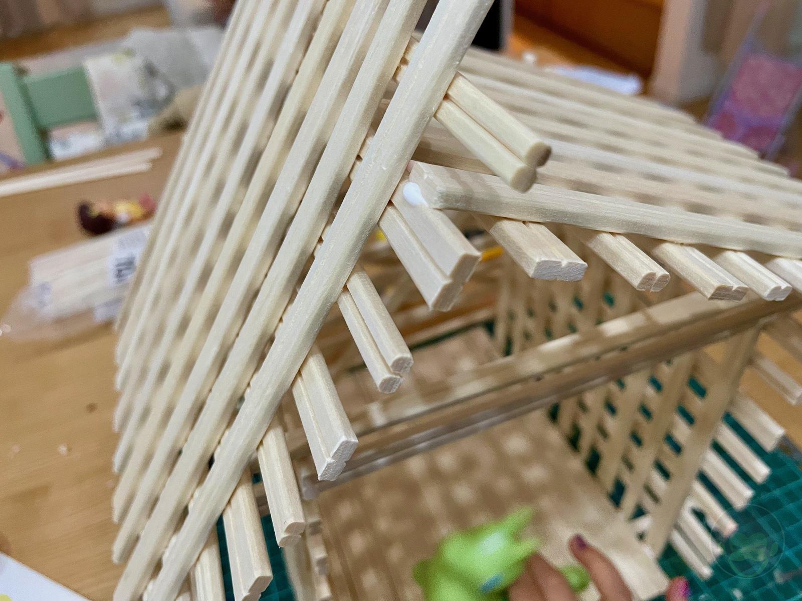 Making House with Chopsticks papame 07