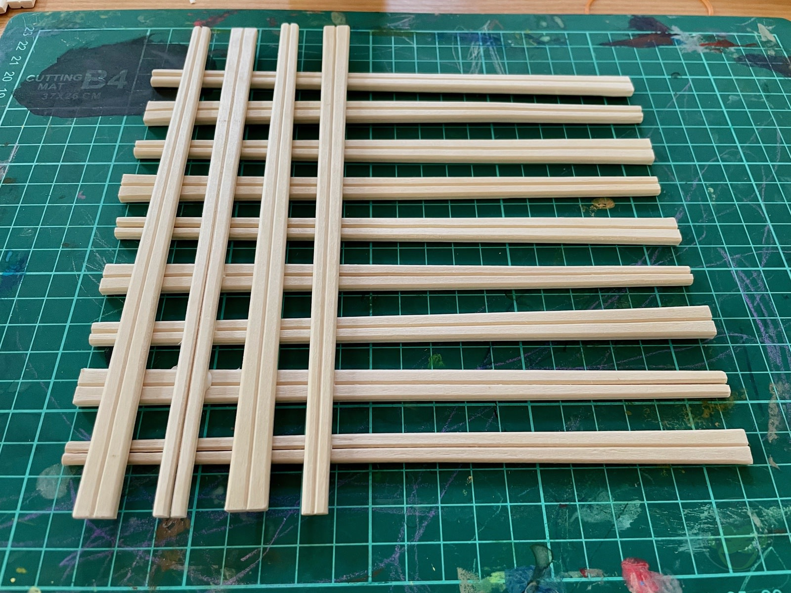 Making House with Chopsticks papame 14