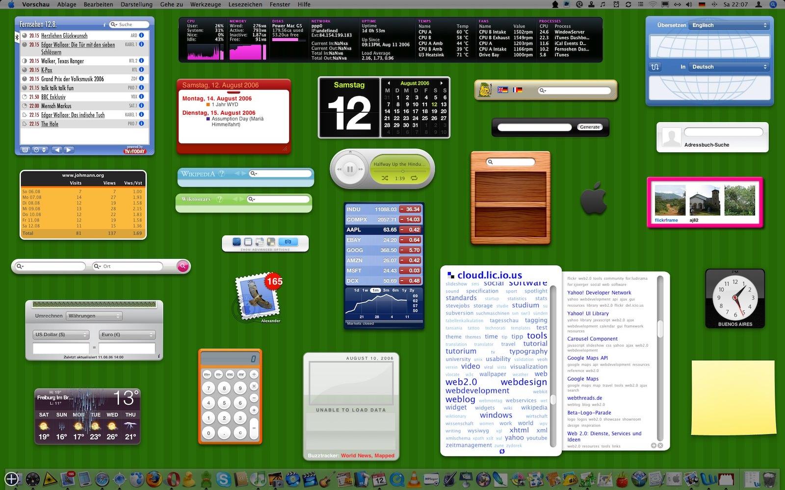 Macos x dashboard widgets