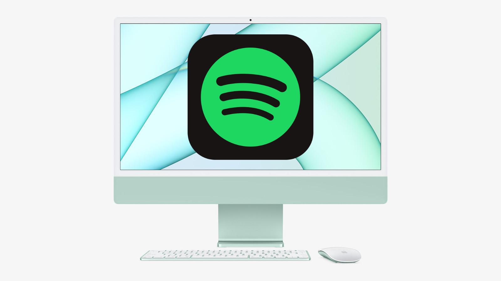 Spotify and m1 imac