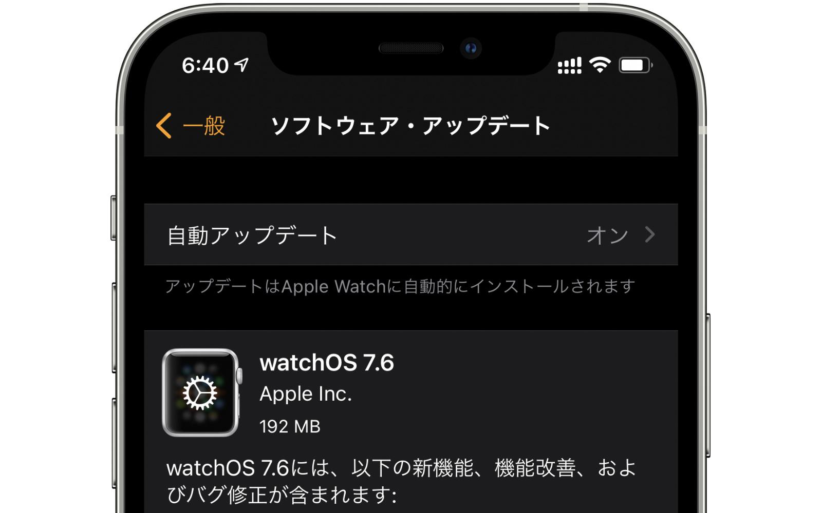 WatchOS7 6 update