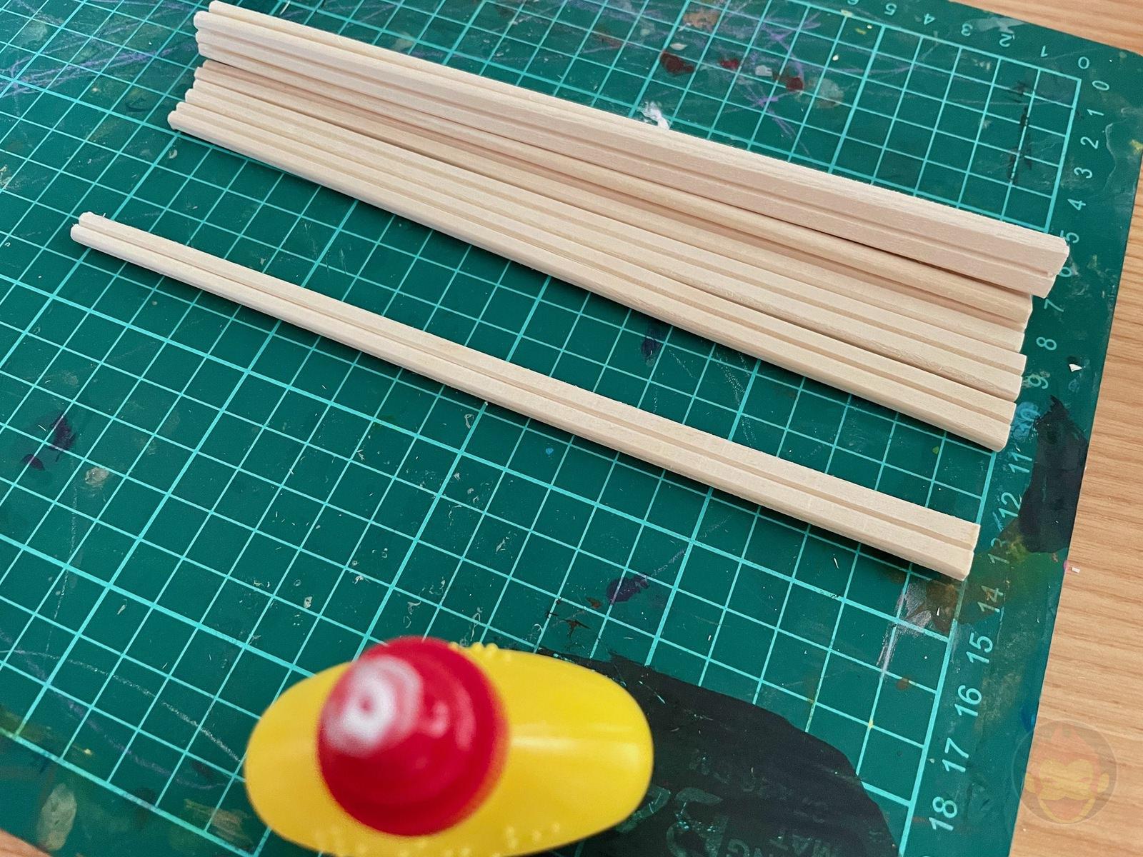 Building a Bench with chopsticks 03