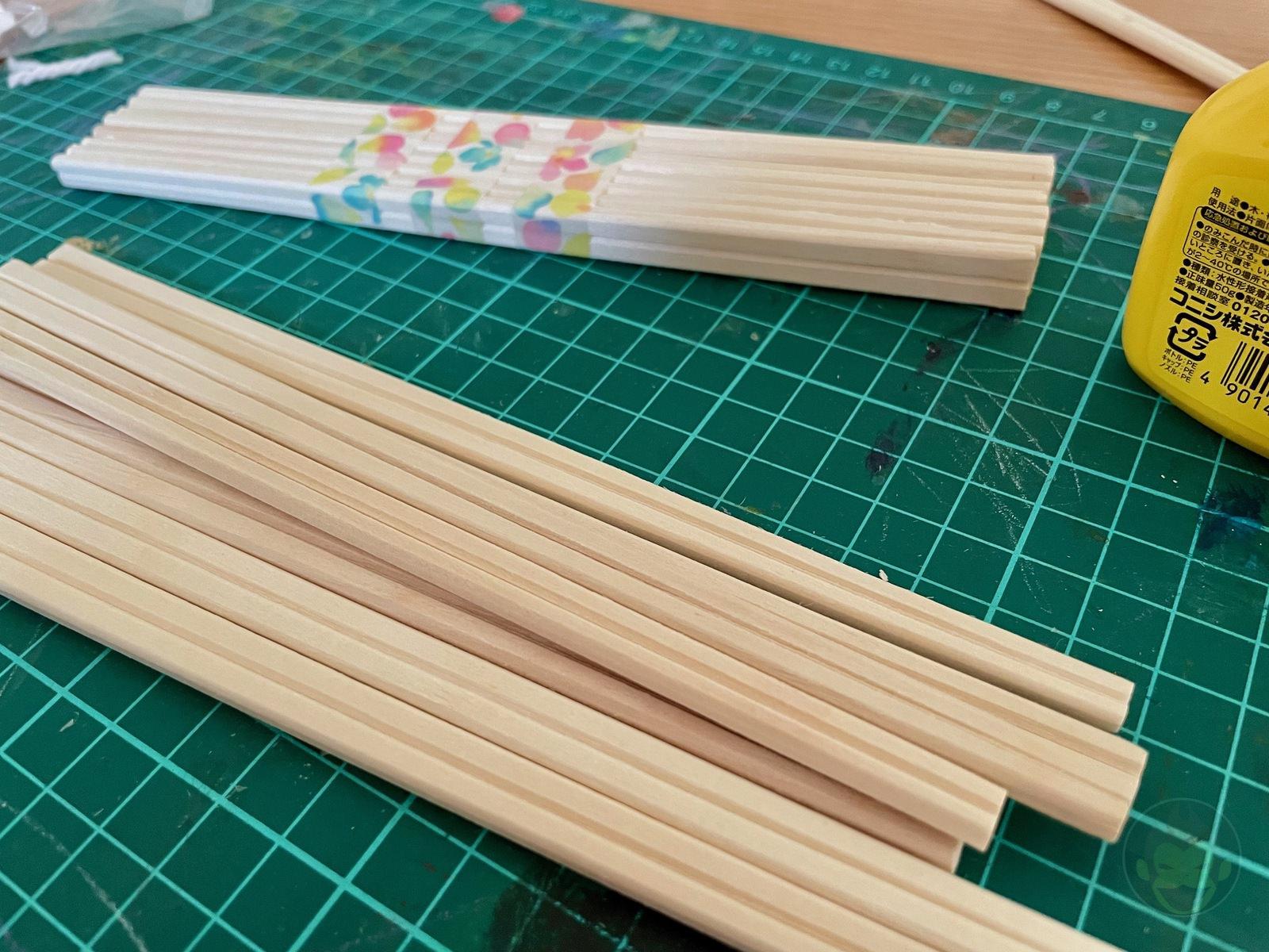 Building a Bench with chopsticks 04