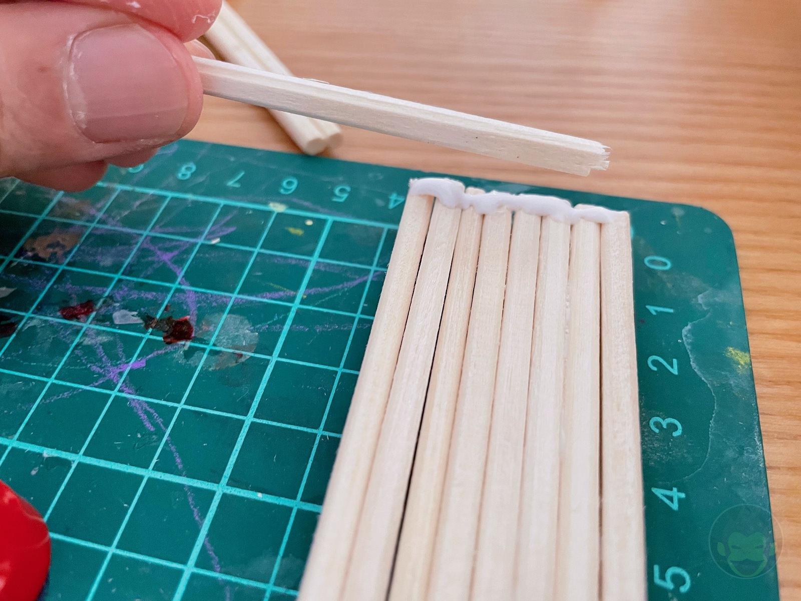 Building a Bench with chopsticks 05