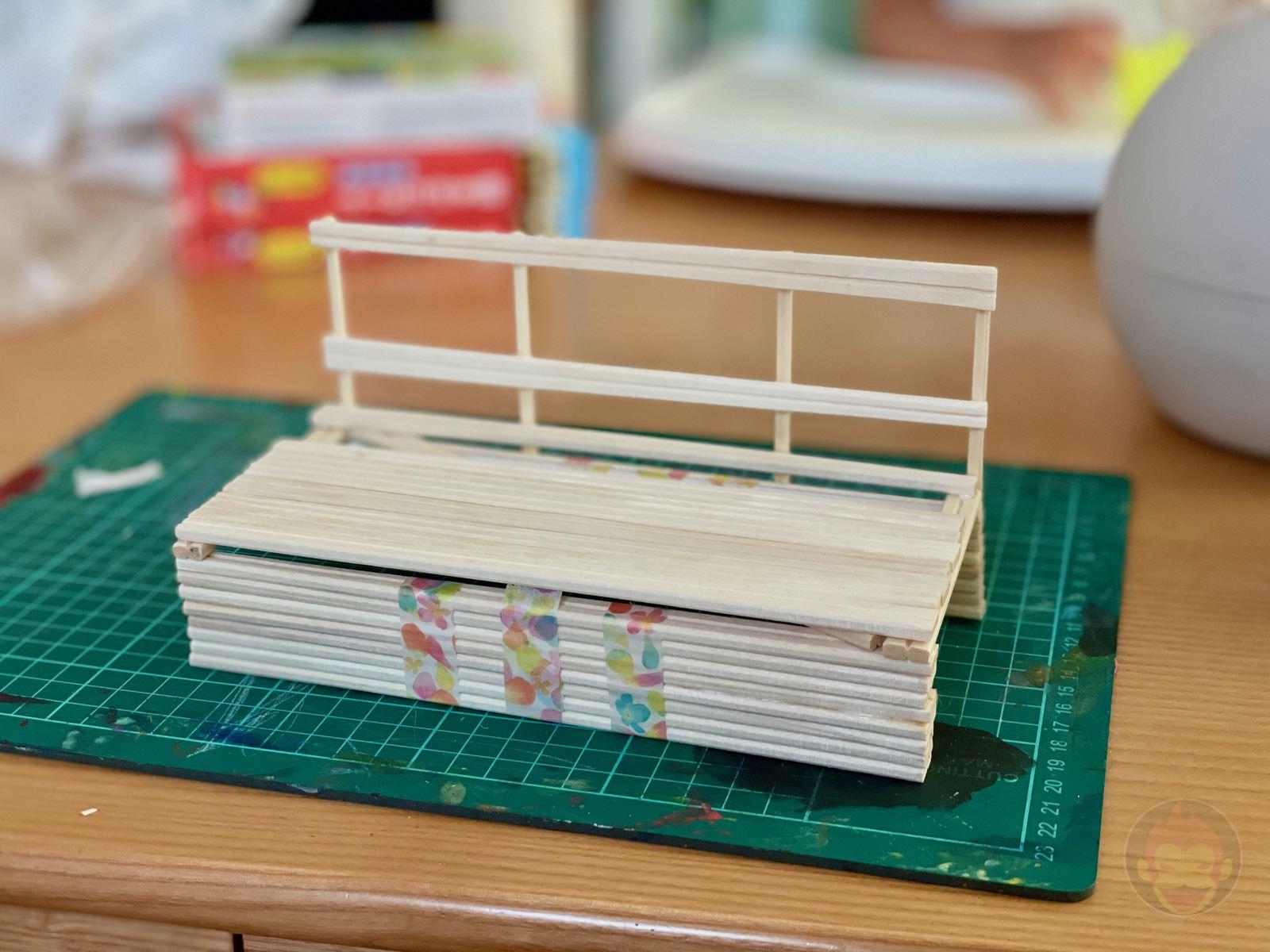 Building a Bench with chopsticks 09