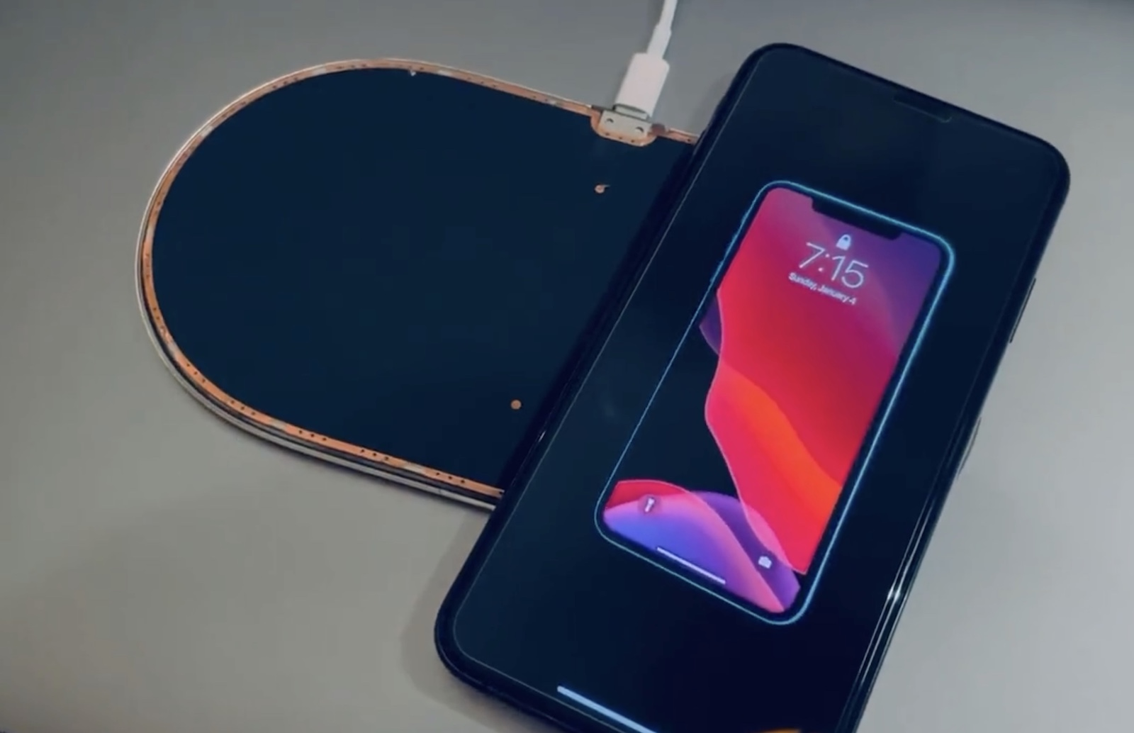 Charging iPhone with AirPower 1