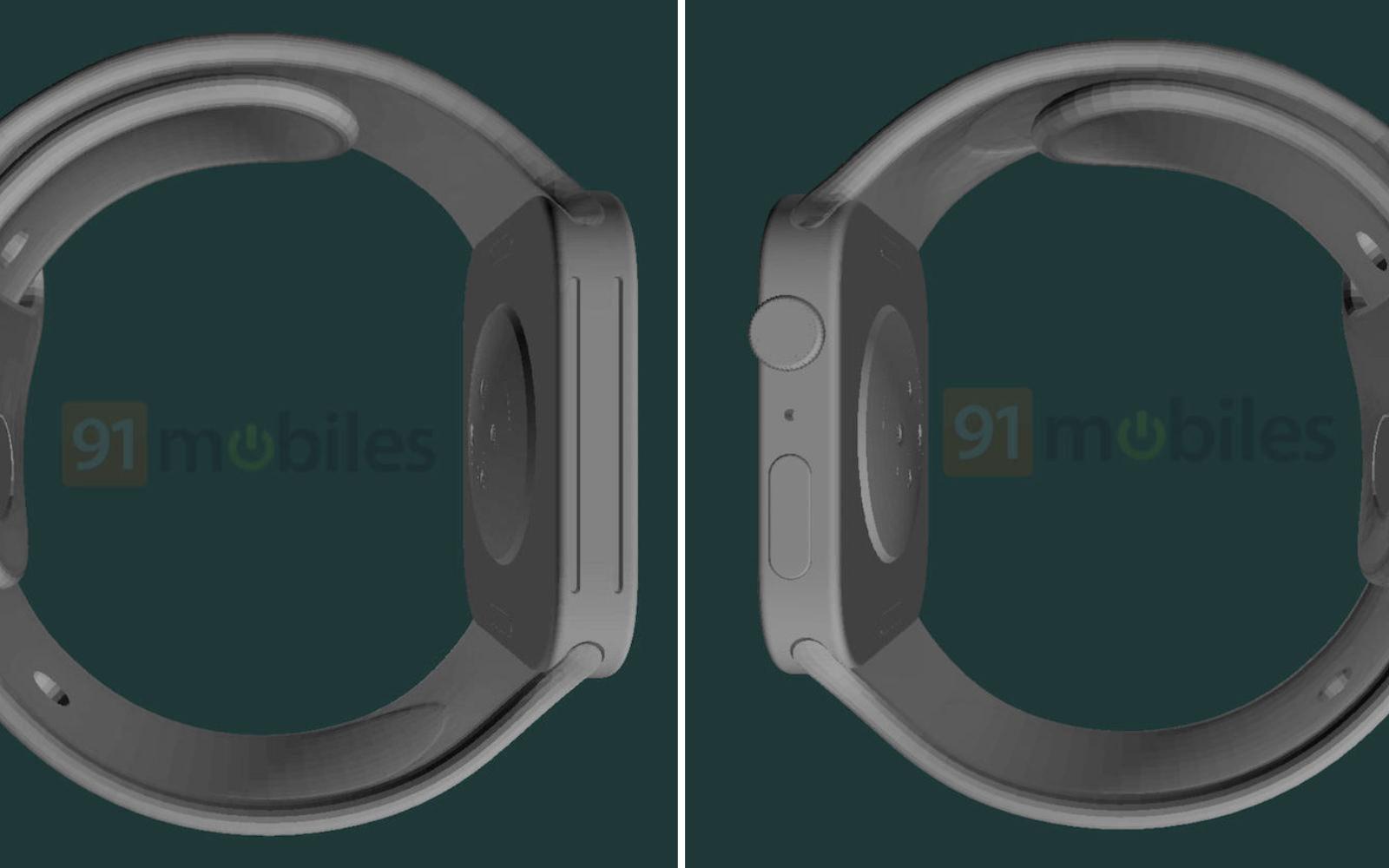 From the Side Apple Watch Series7 renderings