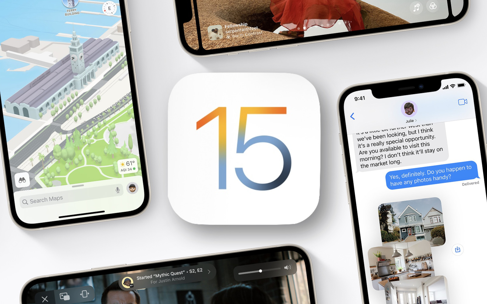 IOS15 features not coming at realease