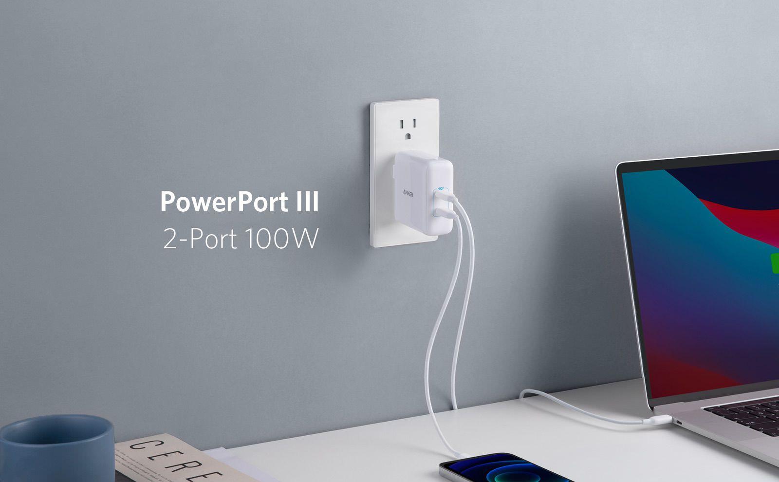 Anker PowerPort III 2-Port 100W 01