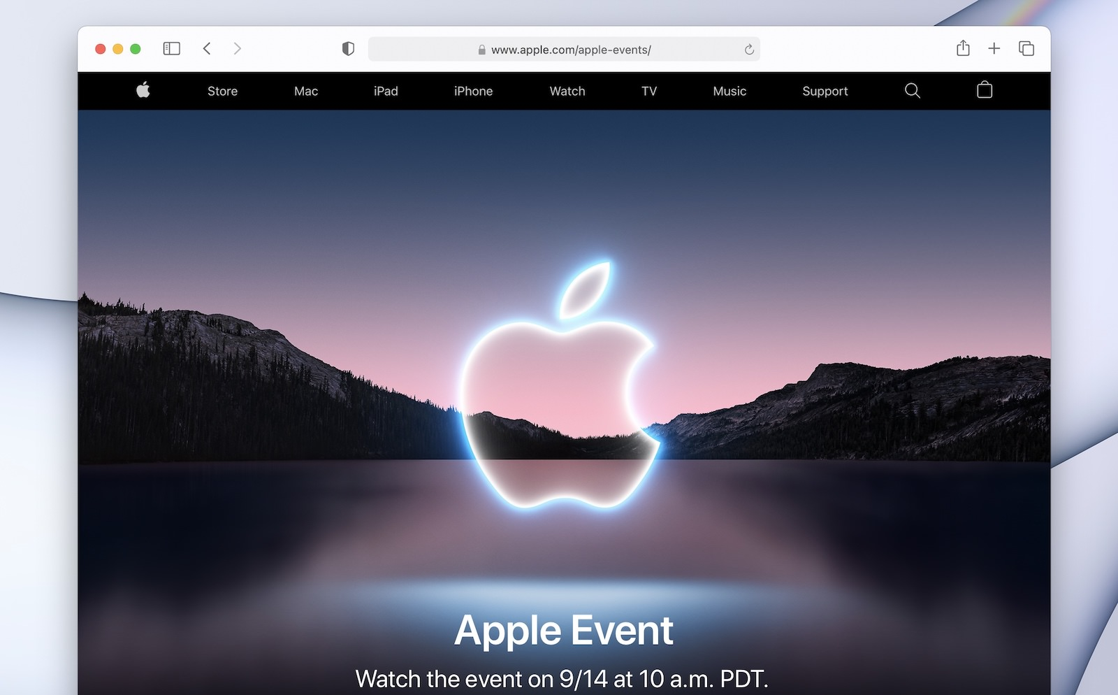 AppleEvent 2021Sep Safari