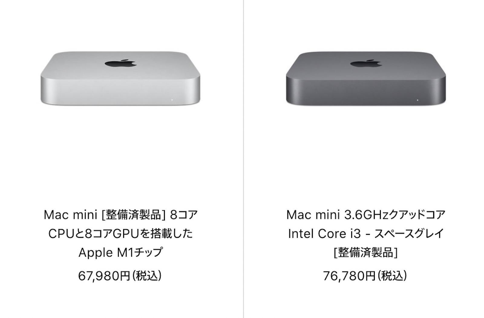 Mac Refurbished model 2021 09 06