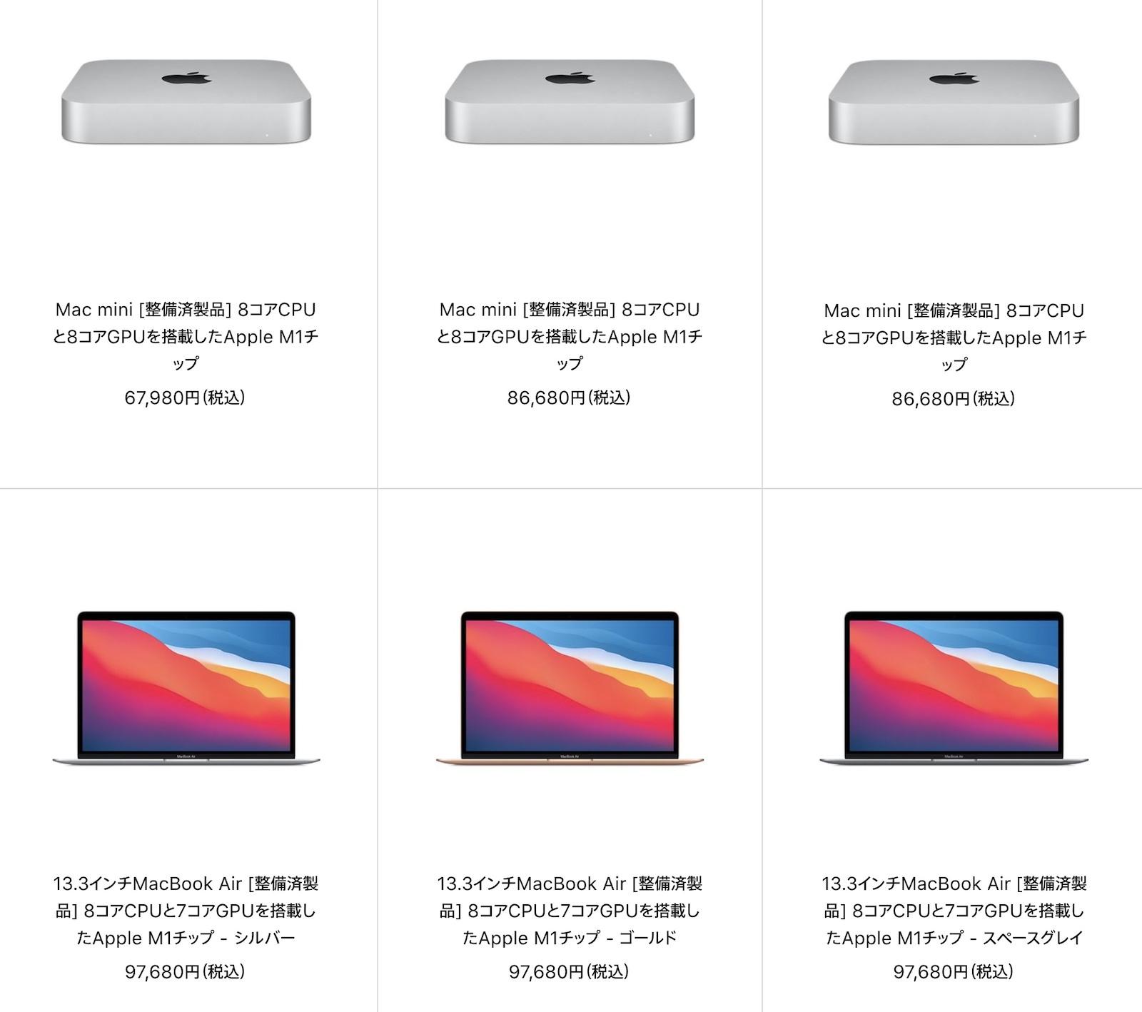 Mac Refurbished model 2021 09 07