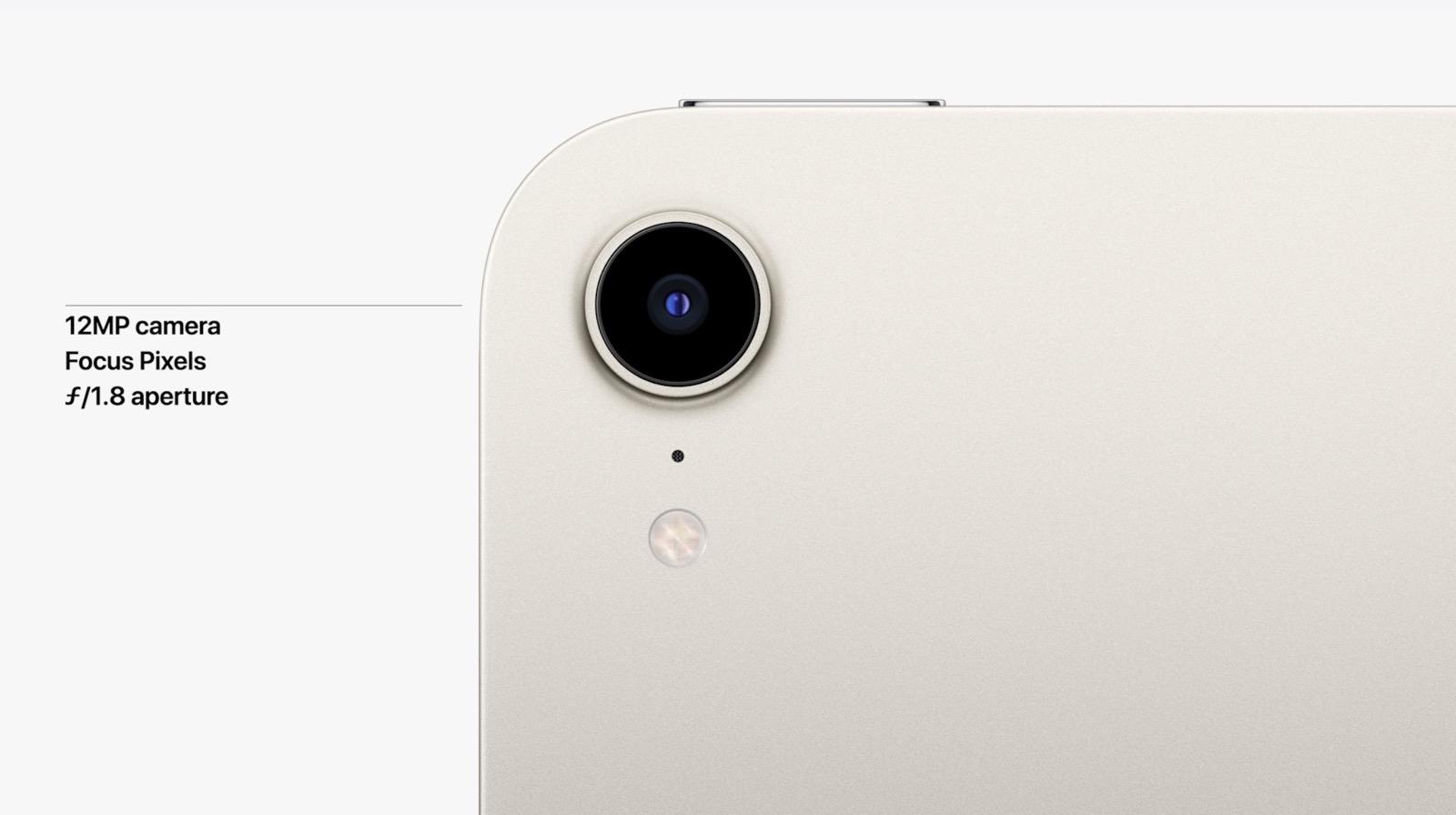iPad mini 6 camera