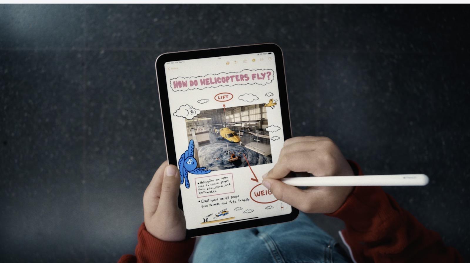 Using Apple Pencil on iPad mini 6