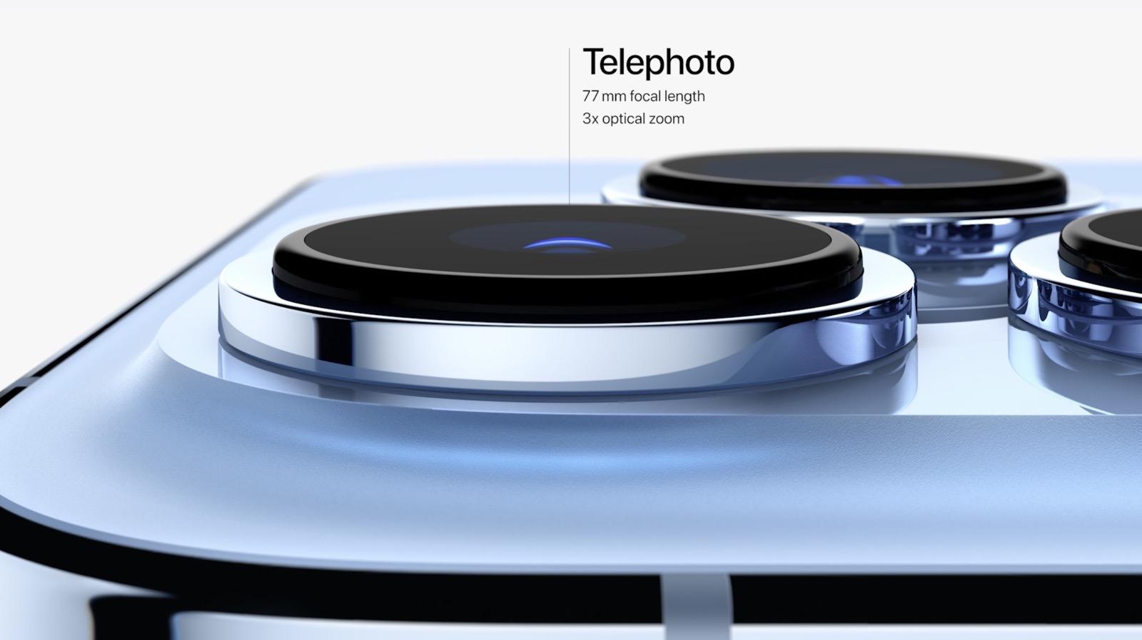 iPhone 13 Proの望遠レンズ仕様