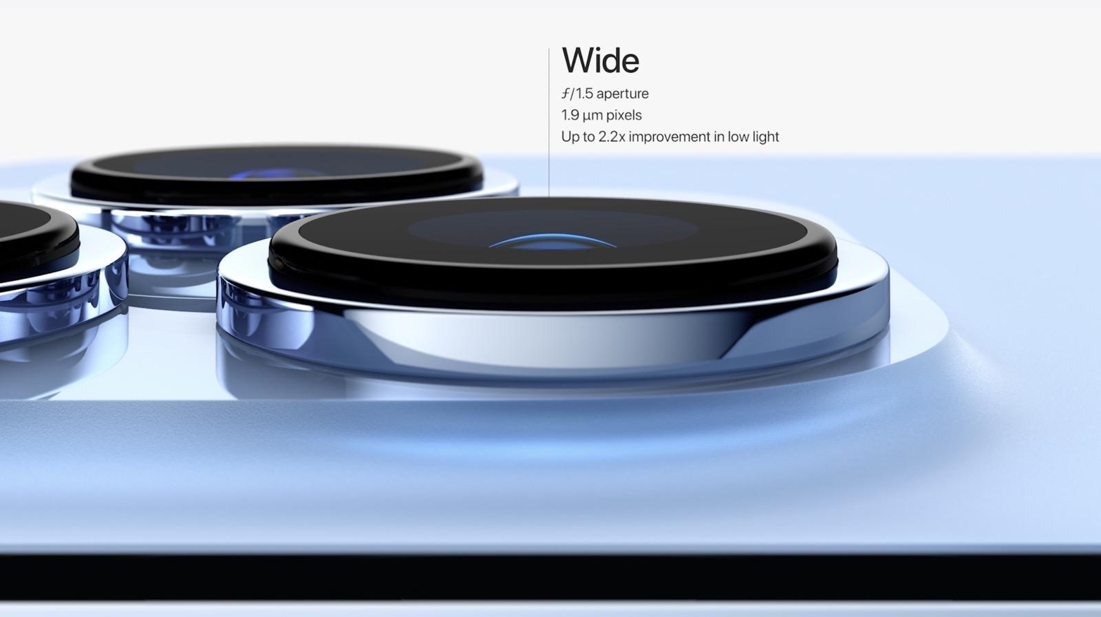 iPhone 13 Proの広角レンズ仕様