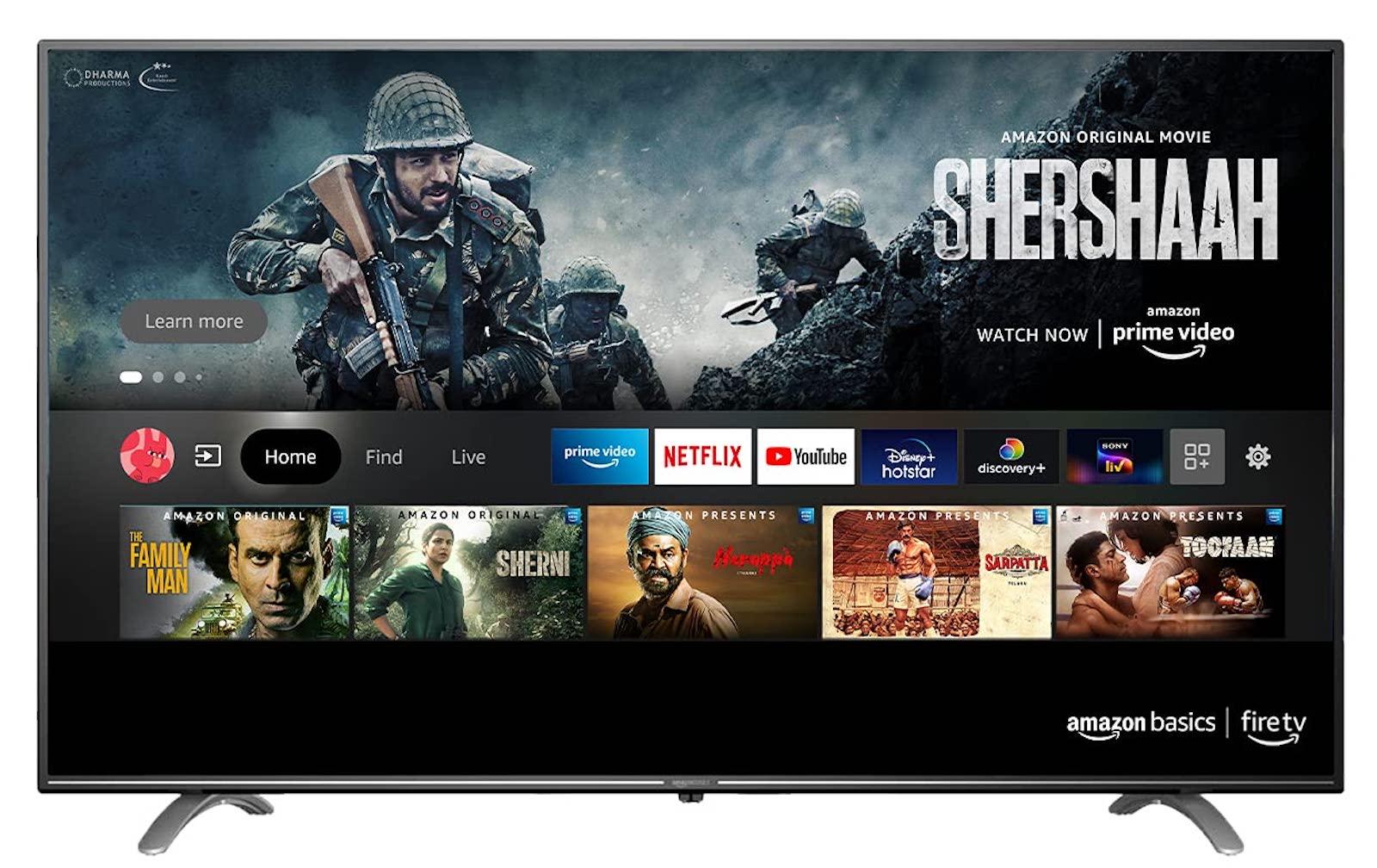 Amazonbasics tv in india
