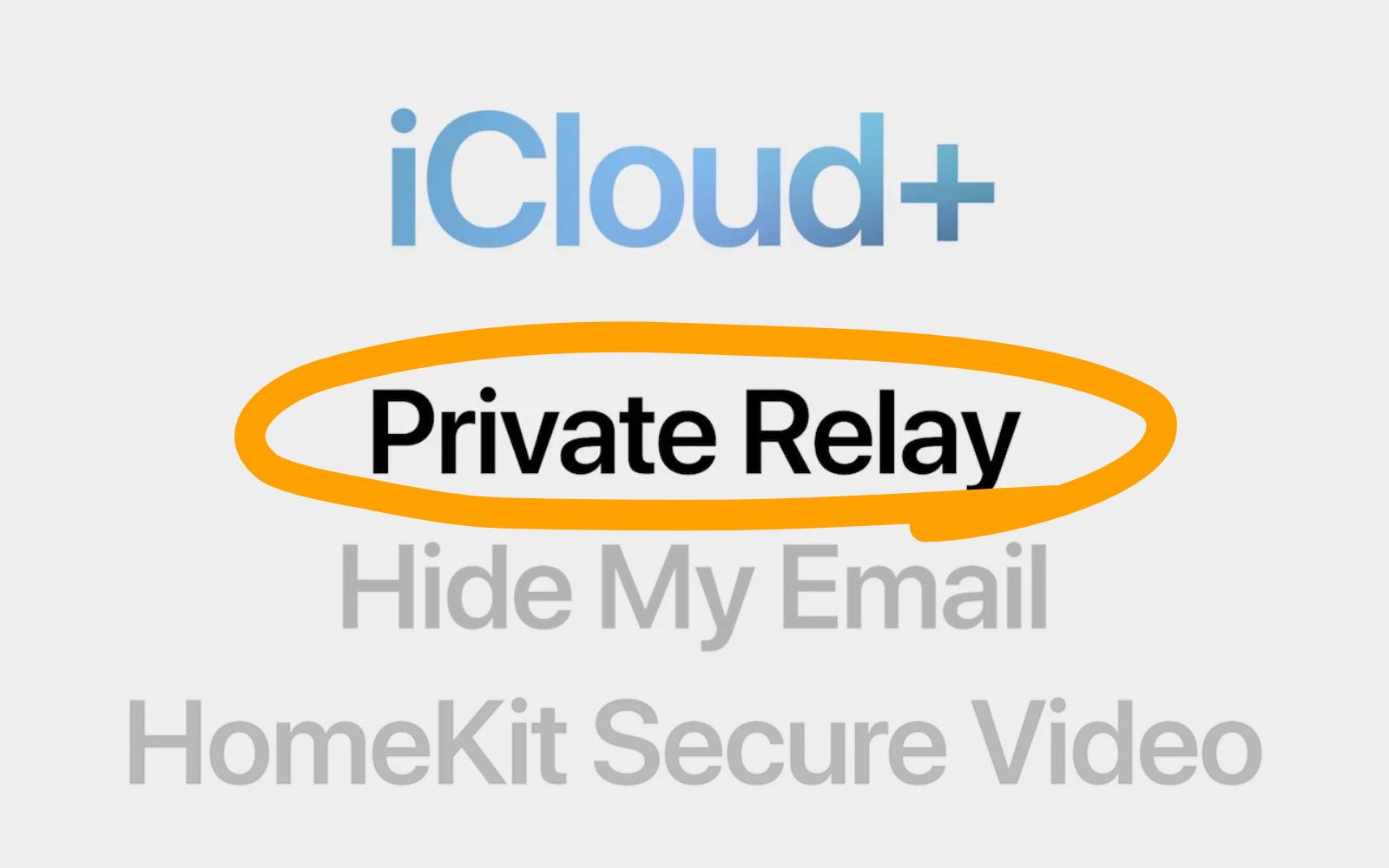 Icloudplus private relay