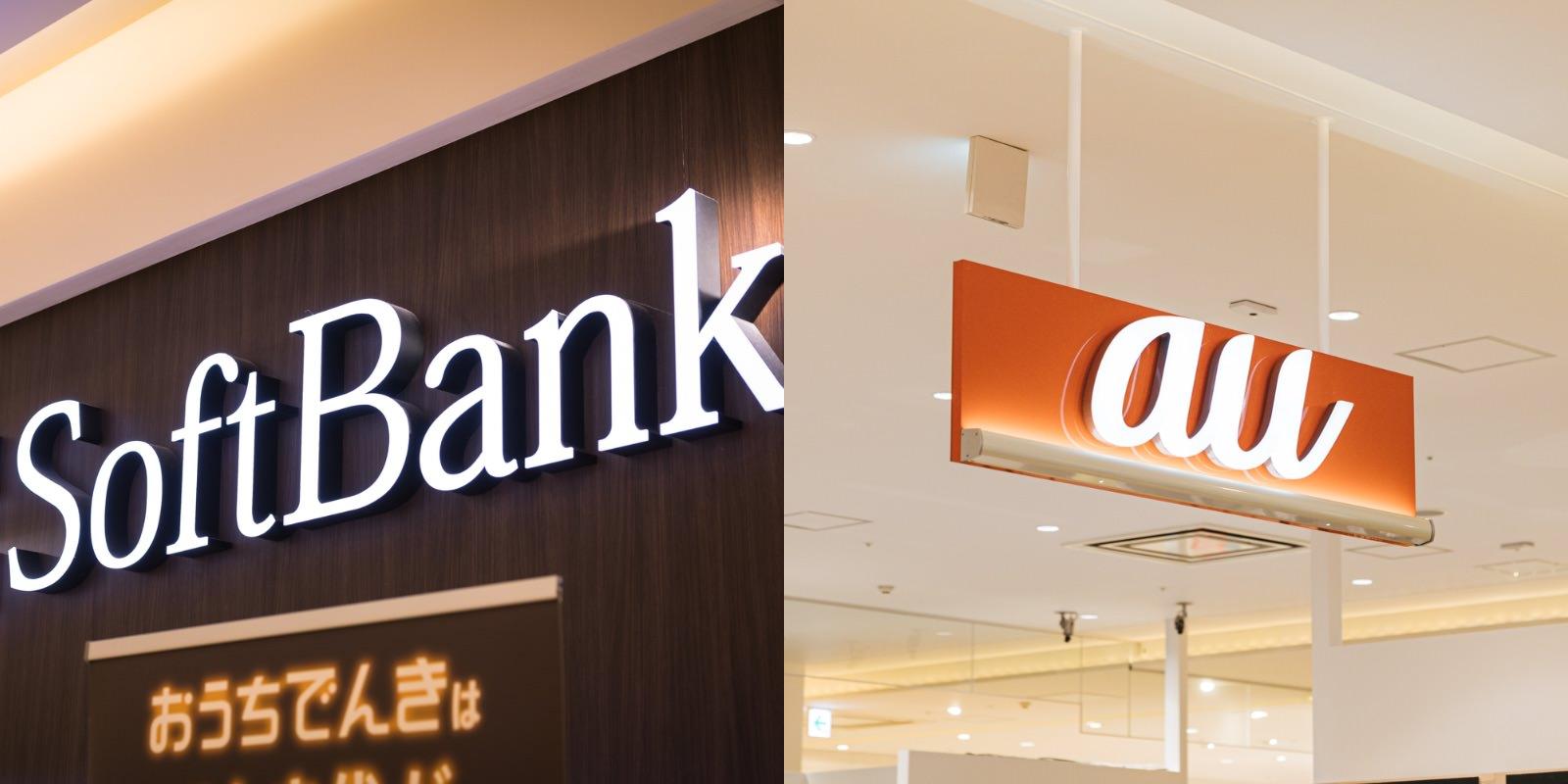 Softbank and au