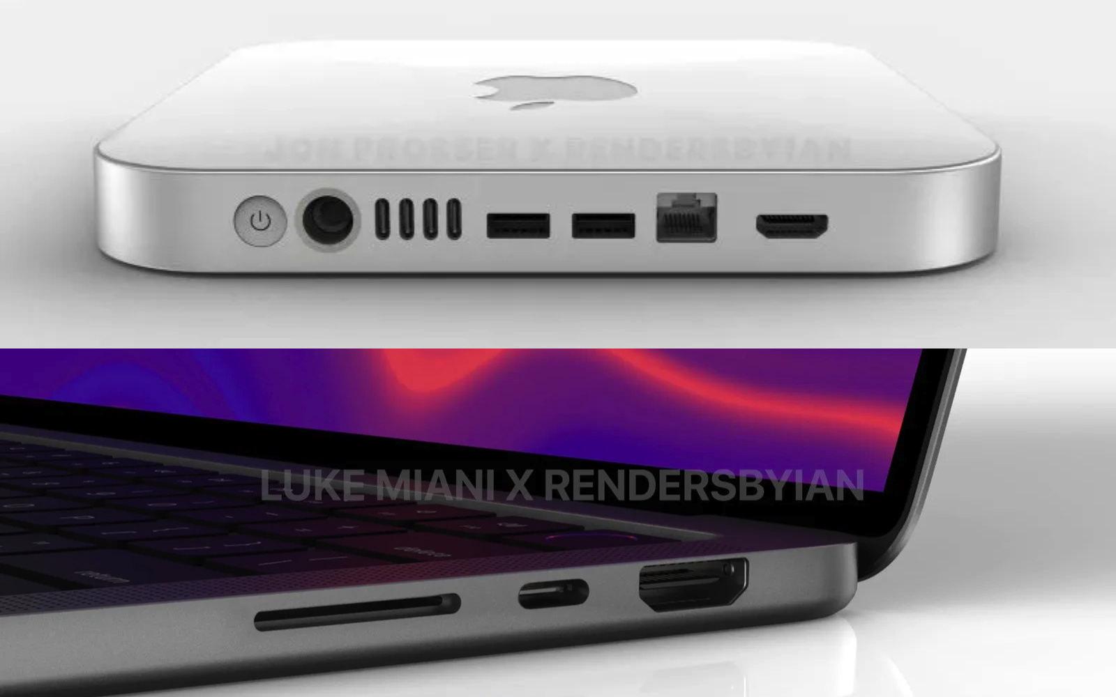 New MacBookPro and Macmini renderings